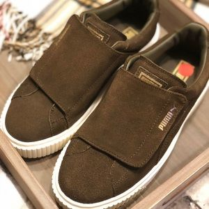 5db32a35df1f Brown suede PUMAS